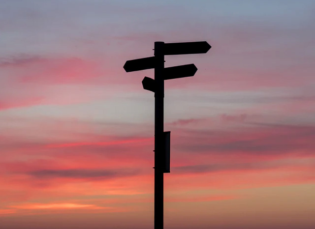 signpost silhouette