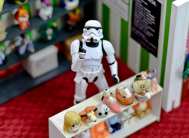 stormtrooper selling things