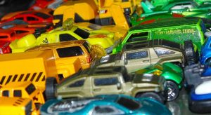 toy cars parked